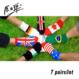 Wholesale 7 pairs YZD brand cotton football soccer socks zocks casual business Men s athletic socks brand disposable Male socks for men