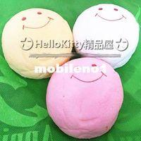baby buns - Jumbo cm colors Pink White Yellow smile marshmallow bun squishy phone charm SQUISHIES Pendants Baby Toy