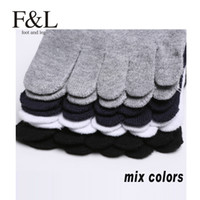 Wholesale Express pairs F amp L brand five fingers men cotton five toes short socks socs chaussette hocok meia calcetin anklet sox