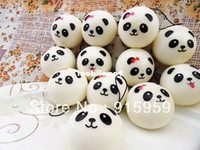 Wholesale christmas gift hot sales cute kawaii cm panda squishy squishies bun phone bag straps charm wholesales