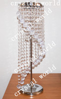 Wholesale crystal flower stand center tables decorative flower wedding crystal waterfall centerpieces