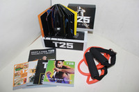 Cheap Fitness Video T25 Focus DVD Shaun T's Rockin' Body Workout Set 10 Disks With Resistance Band High Definition Slimming Training
