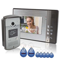 Wholesale 7 quot ID Unlocking Color Video Door Phone and Electric controlled Unlocking With Night Vision Function to