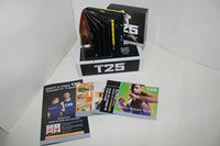 Cheap New Arrive Focus T25 10 DVD Crazy Shaun T's Rockin' Body DVD Workout Set Bodybuilding Sports Aerobics With Resistance Band Free Shipping