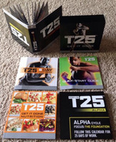 Cheap Shaun T's Rockin' Body 10 DVD Workout Set Focus T25 It's About Time Muscle Training Body Building Fitness Video With Resistance Band