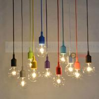 Wholesale DHL new design colorful Silica gel E27 Lamp holder for Pendant lamp DIY lamps Ceiling Chandelier Light fixture No Bulb