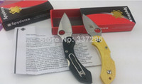 Wholesale New Spyderco H1 mini knife Two color small knife pocket knives camping survival folding knife with ABS handle