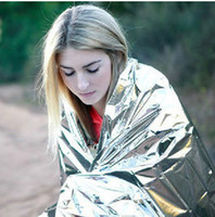Wholesale Hot Sale Waterproof Emergency Survival Blanket Rescue Space Foil Thermal Blanket first aid Sliver rescue curtain outdoor
