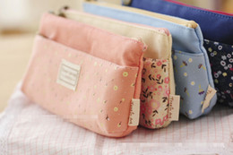 Wholesale Vintage Flower Garden Storage Bag pen bag Coin keychain keys wallet Purse change pocket holder organize cosmetic makeup case