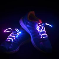Wholesale 100Pair HOT Xmas LED Flash Lighting Glow Running Boot Skating Shoelaces Shoe Laces DISCO GIFT