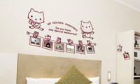 Wholesale 2014 Hot Sale Cute Cat Wall Art Stickers Decals Wall paster house DIY decorative glass coffee shop clothing store window stickers waterproof