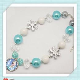 Wholesale Fashion Frozen Princess Elsa Children Baby Girl Party princess Jewelry necklace LY