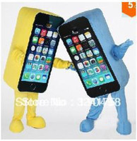 Mascot Costumes People Occupational Lowest Price Apple iPhone 5C Mascot Costume High Quality Mascot Costume Cell Phone Lovely unique SALE Many Colors