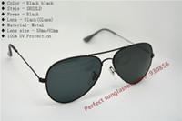 Wholesale HOT Vintage Men women sun glasses Polarized Reflective glass Black g ray frame Eye glasses Brown lenses Cheap sunglasses