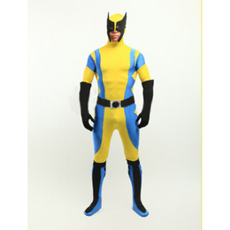 X-Men Wolverine Spandex Superhero Costume Halloween Cosplay Party Zentai Suit