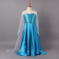 TV & Movie Costumes Teenage People 1406z summer dress 2014 girl party dress princess costume baby girls elsa dress lace long sleeve satin Sequins new frozen dress 39673087459
