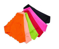 Wholesale Fabric Ultra thin Comfort Underwear women Seamless Panties for women pink seamless Briefs women