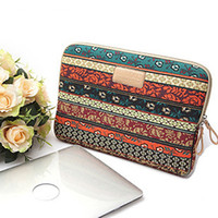 Wholesale 2014 new design Bohemian Style laptop bag case for iPad MacBook quot Canvas Notebook Laptop Sleeve