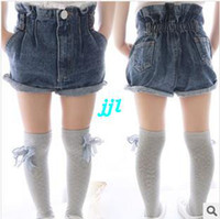 Wholesale A generation of fat children s children s summer Korean girls pants high waist denim shorts flanging