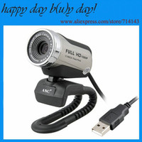 Wholesale 20 Mage HD1080p USB Webcam for computer Webcam hd PC camera usb Built in Mic Driver Free web camera for pc