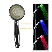 Wholesale NEW LED Light Wall Mount Showers Head Water Bathroom RGB Three Colors A5