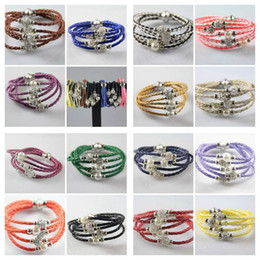 Hot 10pcs SHAMBALLA Leather Wristband Magnetic Buckle Rhinestone Bracelet 20cm