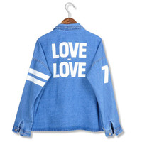Jackets Women Cotton Stylenanda spring 2014 denim coat women's 2love spring and autumn all-match lovers denim outerwear female