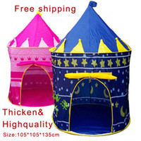 Tents Classic Polyester Freeshipping Ultralarge Children Beach Tent, Baby Toy Play Game House, Kids Princess Prince Castle Indoor Outdoor Toys Tents