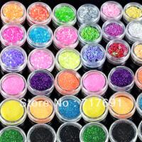 Nail Art 3D Decoration Nail Art Rhinestones Nail Glitter New Wholesale 120pcs Colorful Glitter Nail powder Art Beads Decoration Acrylic UV Gel UQ 4015