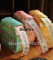 Wholesale Freeshipping New garden printed tape Colorful flower Adhesive Tape Multifunction DIY Paper Sticker Sign post Gifts