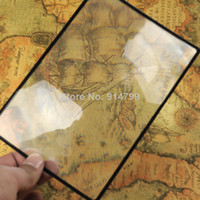 Wholesale pengmall222 X A5 size PVC card Magnifier sheet working reading magnifying glass loupe