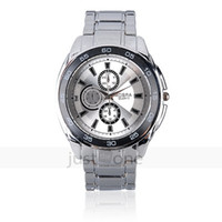 Men's Water Resistant Round Casual Classic Metal Mens Boys Steel Band Quartz Wrist Watch