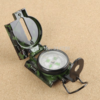 Wholesale pengmall222 DC45 camouflage lensatic metal handheld Compass Pocket Watch Style Outdoor Camping Survival Tool