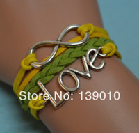 Charm Bracelets Women's Fashion Free Shipping!12PCS LOT!New Fashion Metal Silver Infinity Infinity LOVE Bracelet Women Mixed Charms Lobster Clasp Jewelry K-227