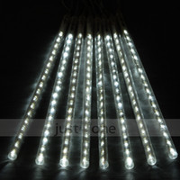 Colored Bulbs Holiday uned New Cold White 8x Column Set LED Meteor Light Garden Street Tree Decorative Lamp