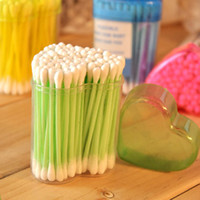 Cotton Swab Army Green, Light gray  [ pengmall222 ]100pcs free shipping Sanitary napkin bag multicolour plastic tube cotton swab cotton swab sliver box cotton swab 7542 8066