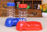 Dogs 10 cm as Hot Sales Pet Dog Puppy Cat Kitten Automatic Water Dispenser Food Dish Bowl Feeder Water Bottle D-1441