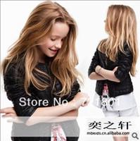 Jackets Unisex Real Leather 2013 autumn new children girls cardigan jacket machine wagon jacket free shipping