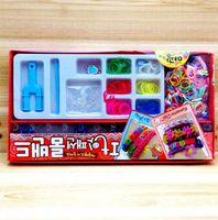 Wholesale 2014 New Fashion Loom Kit With Rainbow Bands Y Sharp Loom Mini Hook Charm