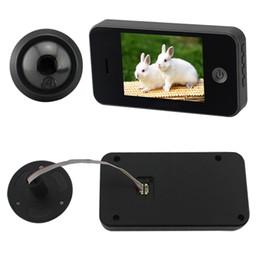 Promotion mémoires vidéo 3,5 pouces TFT numérique Surveillance Camera Photo Memory Viewer Peephole porte Sonnette Accueil Sécurité de détection de mouvement vidéo Téléphone