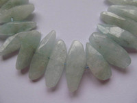 Wholesale free ship x25 mm inch high quality natural aquamarine beryl gemstone freeform nuggets teeth faceted jewelry beads