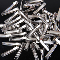 Hair Sticks Metal Geometric Baby Girl Hair Clip Single Prong Alligator Clips Silver Color Teeth Clip For Hair Accessories 100PCS LOT Free Shipping