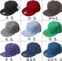Wholesale Lovers cotton paintless hat baseball cap solid color hip hop hat cap flat cap Bboy G