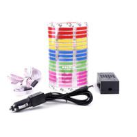 Wholesale 70 CM Car Music Sound Activated Equalizer Rhythm Lamp LED Multi color Flash CM