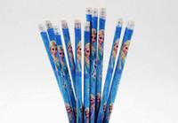 Wholesale Fashion wooden children frozen pencils Elsa Anna princess cartoon frozen Pencils with eraser