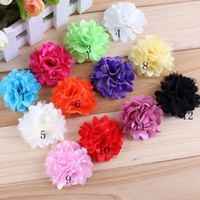 Hair Sticks Lace Floral Shabby Chiffon Flower For Baby Headband Hair Clip Mix Color Children Hair Accessories 60PCS LOT Free Shipping