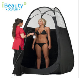 Wholesale Tan Pop Up Airbrush Sunless Spray Air Vent Tanning Tent Booth Clear Mobile Single Person Use