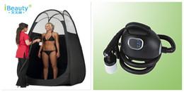 Wholesale Sunless Self Bronzer Tanner Body Spray Tan HVLP Tanning Machine V Pop Up Airbrush Tanning Tent