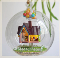Wholesale Handmade DIY Miniature Doll House Model Glass Ball Air Villa DIY KIT