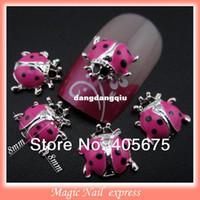 Wholesale MNS59P New nail design kawaii ladybug d nail art decorations charms supplies